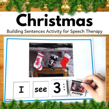 Winter & Christmas Build a Sentence for Speech Therapy