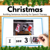 #tptsupportsmallshops Christmas Activity for Speech Therapy Sentence Buiding
