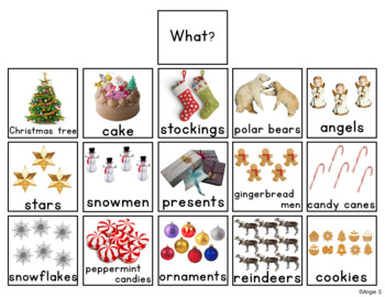 Christmas Activity for Speech Therapy Sentence Buiding