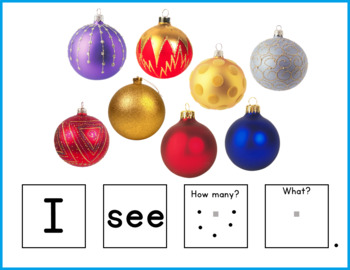 Christmas Activity for Speech Therapy - Sentence Building
