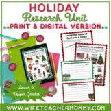 Winter Holidays Around The World Research Unit