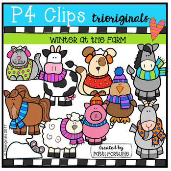 Winter at the Farm (P4 Clips Trioriginals Clip Art)