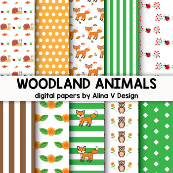 Woodland Animals Clipart Bundle (Forest Animals Clipart)