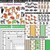 Woodland Animals Clipart Bundle (Forest Animals Clipart)