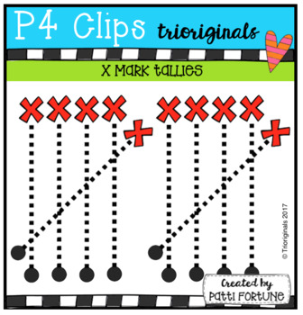 X MARK Tallies (P4 Clips Trioriginals Clip Art)