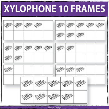 Xylophone 10 Frames Clipart