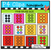 Year Round Dice COLOR ONLY (P4 Clips Trioriginals Clip Art)