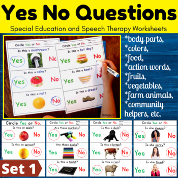 Yes No Questions Bundle for Autism and Special Education