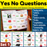 Yes No Questions for Speech Therapy and Special Education Bundle