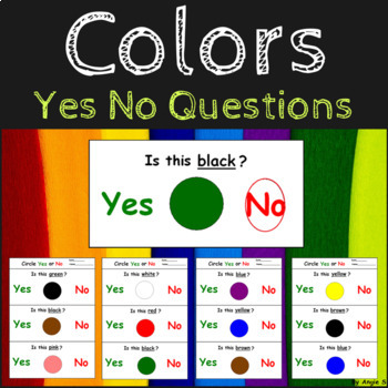 Learning Colors - Yes No Questions for Special Education by Angie S