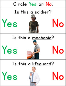 Yes/No Questions- Community Helpers