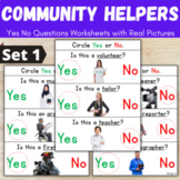 Community Helpers Activity - Yes No Questions for Speech Therapy