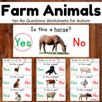 Farm Animals Yes No Questions for Speech Therapy