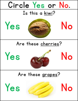 Yes/No Questions- Fruits