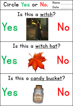 Yes/No Questions -Halloween Worksheets for Autism and Special Ed