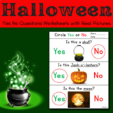Halloween Worksheets for Special Education - Yes No Questions