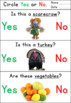 Yes/No Questions - Thanksgiving Worksheets
