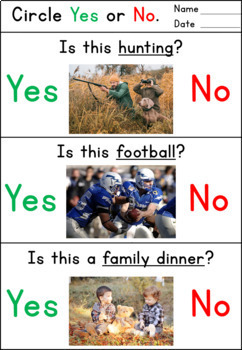 Yes No Questions for Thanksgiving