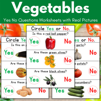 Yes No Questions- Vegetables