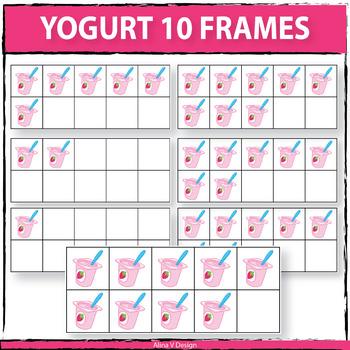 Yogurt 10 Frames Clipart