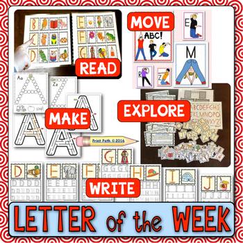 Letter of the Week Curriculum: PreSchool & K Readiness BUNDLE