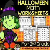 NO PREP Halloween Math Worksheets for 2nd Grade