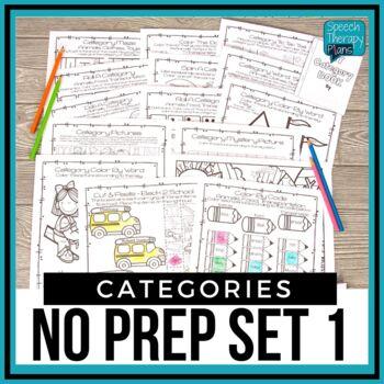 No Prep Categories Level 1
