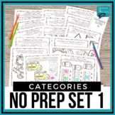 No Prep Categories Level 1