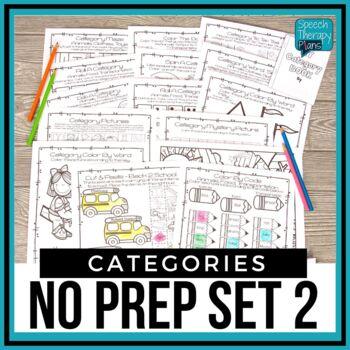No Prep Categories Level 2