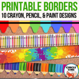 Printable Bulletin Board Borders, Primary and Art Decor, Classroom Display