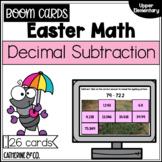 Easter Math Decimal Subtraction | BOOM cards