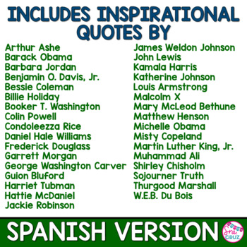 Black History Month Quotes SPANISH VERSION