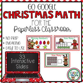 Google Classroom Christmas Math