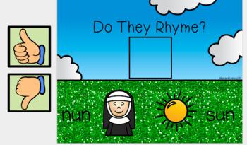 Google Classroom Kindergarten Rhyming Words