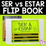 Ser and Estar Ser vs Estar Flip Book with DIGITAL option for Google Slides