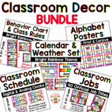 Bright Colorful Classroom Decor BUNDLE