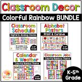 Rainbow Classroom Decor with Bright Colorful Classroom Decor BUNDLE