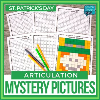 No Prep St. Patrick's Day Articulation Mystery Picture