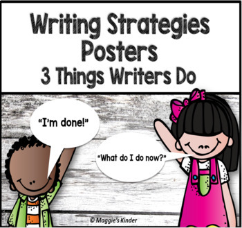 Writing Strategies Posters - Kindergarten - Shiplap