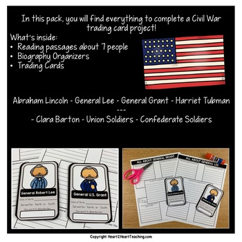 **50% OFF for 3 Days*** Civil War Trading Cards Project
