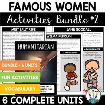 Inspirational Women's History Bundle #2: Ride, Rudolph, Goodall, Roosevelt
