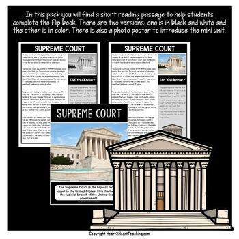 American Symbols: The Supreme Court Mini Unit with Flip Book