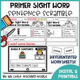 Sight Word Sentence Scramble
