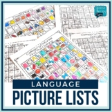 No Prep Language Picture Lists