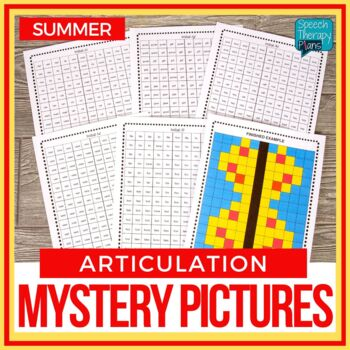 No Prep Summer Articulation Mystery Picture