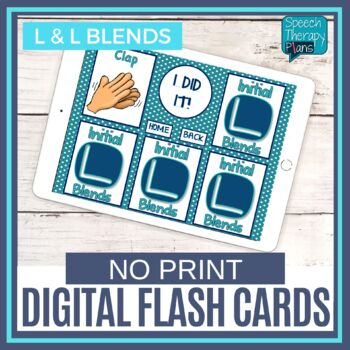 No Print Articulation Flash Cards - L & L Blends