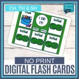 No Print Articulation Flash Cards - CH, SH, TH