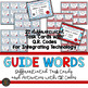 Dictionary Skills:  Guide Words Activities