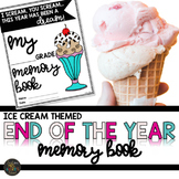 End of the Year Memory Book in Ice Cream Theme