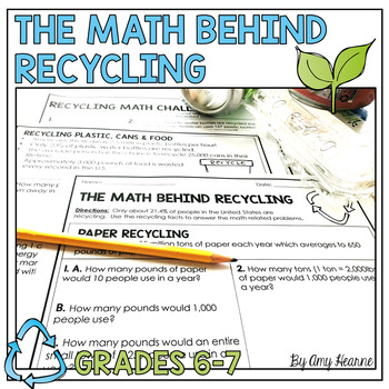 The Math Behind Recycling Worksheets